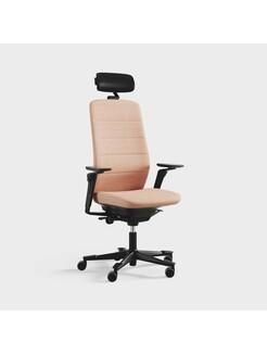 Capella, Modell CF121 Black Edition, Armstöd och nackstöd, mellanstor rygg, Remix 3921 ljus orange