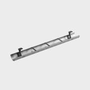 Kabelränna till skrivbord, 1230 mm, Silvergrå