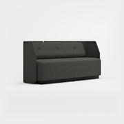 Fields, 3-sits, låg rygg, svart sockel, Remix 3994 mörkgrå
