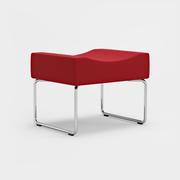 Libra, 1-sits, Ben i krom, Fame 4730 röd