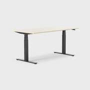 Oberon 160 x 80 cm, Sitt / stå, ben i svart, Plate i bjørk