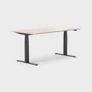 Oberon 160 x 80 cm, Sitt / stå, ben i svart, Plate i eik