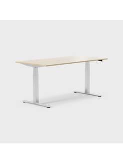 Oberon 160 x 80 cm, Sitt / stå, ben i krom, Plate i eik