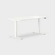 Oberon 160 x 80 cm, Sitt / stå, ben i hvitt, Plate i hvit laminat