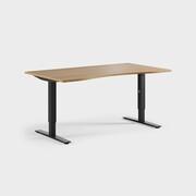 Oberon 160 x 90 cm, Sitt justerbart, ben i svart, Skiva i ek