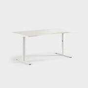 Oberon 160 x 90 cm, Justerbart, ben i hvitt, Plate i hvit laminat