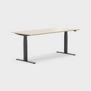 Oberon 180 x 80 cm, Sitt / stå, ben i svart, Plate i eik