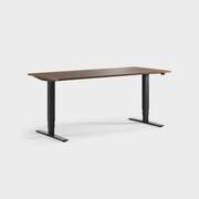 Oberon 180 x 80 cm, Sitt / stå, ben i svart, Plate i valnøtt laminat