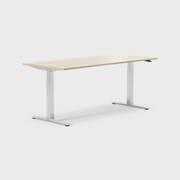 Oberon 180 x 80 cm, Sitt / stå, ben i krom, Plate i eik