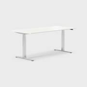 Oberon 180 x 80 cm, Sitt / stå, ben i krom, Plate i hvit laminat
