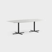 Oberon 240 x 120 cm, Ben i svart, Plate i hvit laminat
