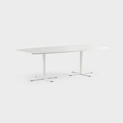 Oberon 240 x 120 cm, Ben i hvitt, Plate i hvit laminat