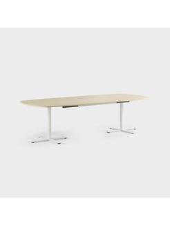 Oberon 280 x 120 cm, Ben i hvitt, Plate i bjørk
