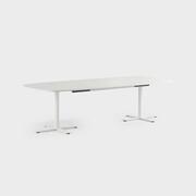 Oberon 280 x 120 cm, Ben i hvitt, Plate i hvit laminat