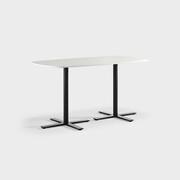 Oberon 180 x 90 cm, Ben i svart, Plate i hvit laminat