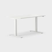 Serie[P] 140 x 80 cm, Sitt/stå, ben i vitt, Ställområde 680-1180 mm (SSP5), Skiva i laminat vit