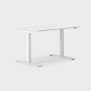 Serie[P] 120 x 80 cm, Sitt/stå, ben i vitt, Sitt-/ståbord B1200mm D800mm laminat vit, vit